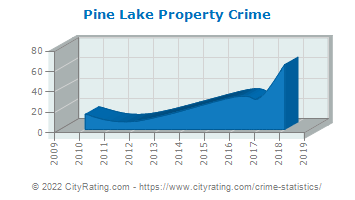 Pine Lake Property Crime