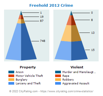 Freehold Township Crime 2012