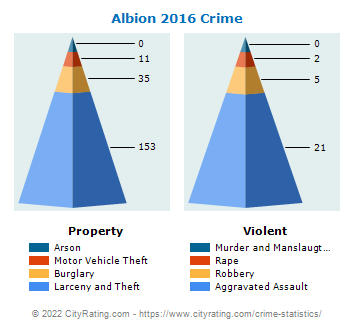 Albion Village Crime 2016