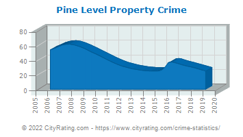 Pine Level Property Crime
