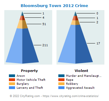 Bloomsburg Town Crime 2012